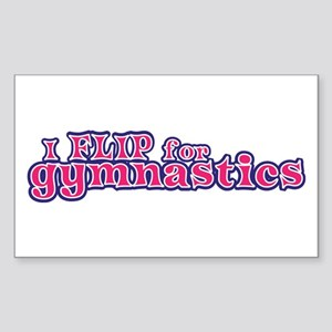 Gymnastics Flip For Gymnastics Sticker (Rectangle)